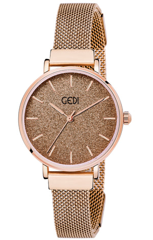 Gedi Brown Elegance Classy Infinitely Adjustable Chain Luxury Watch For Women & Girls