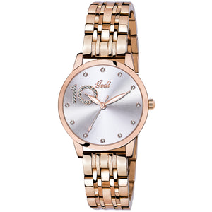 Gedi 10 Times Better Classy Studded White Luxury Watch For Women & Girls