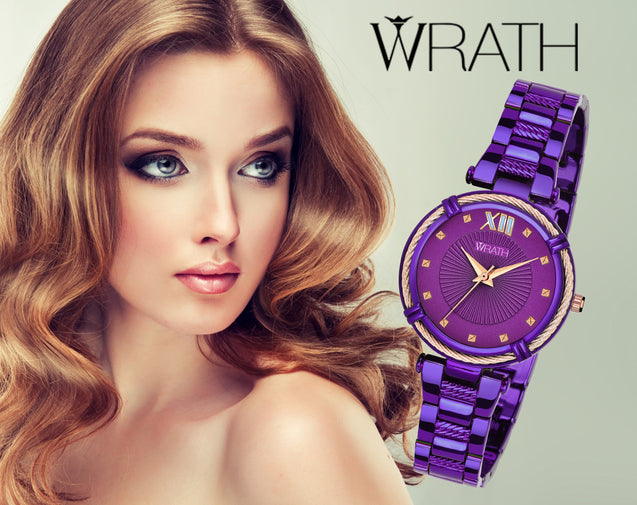 Wrath Fashionista Pure Purple Luxury Watch For Women & Girls.