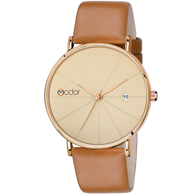 Modor Diva's Choice Round Brown Dial Analog Watch  - For Women