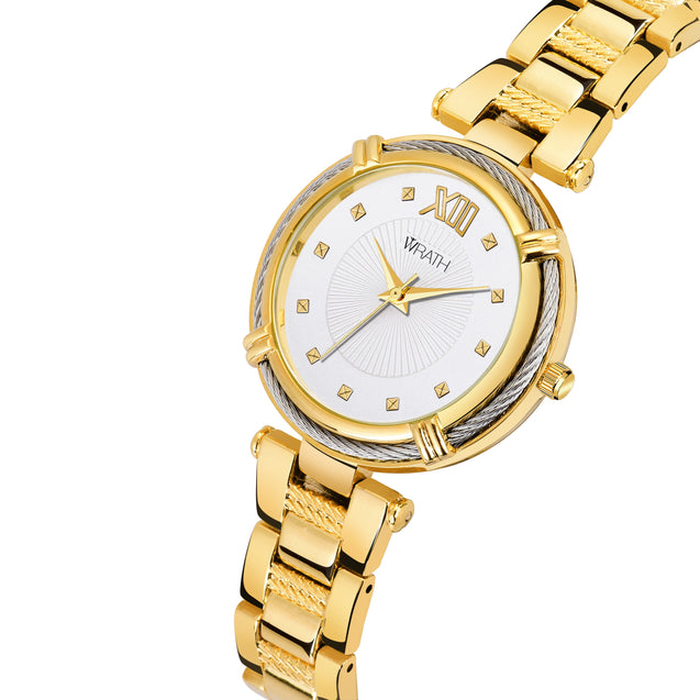 Wrath Fashionista Gorgeous Gold Luxury Watch For Women & Girs