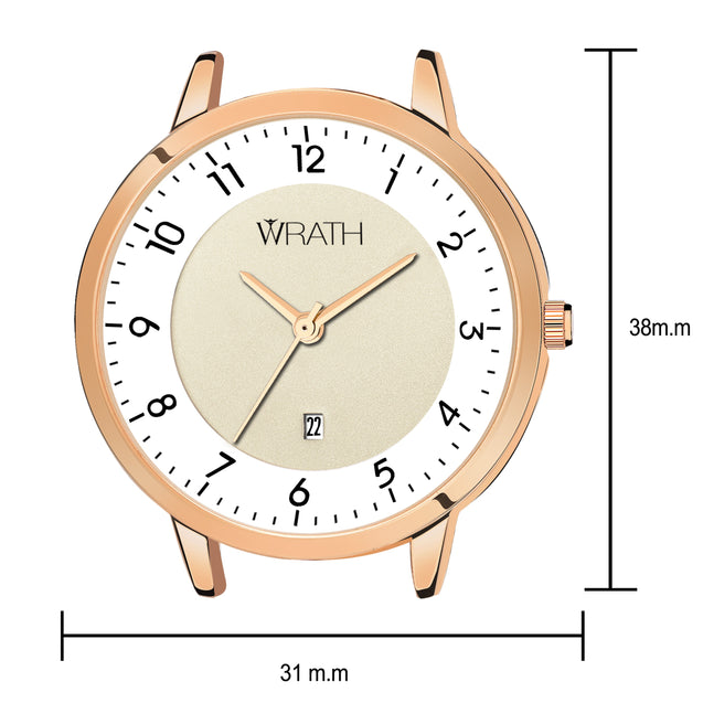 Wrath Rush of Elegance Rose Gold Luxury Watch For Women & Girls.