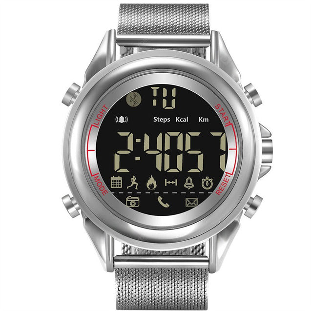 Wrath Smart Bluetooth Connected Black Sporty Strap Silver Dial Activewear Smart Watch (Pedometer, Call, Camera Operations, Calories, App Notifications & more -Andriod & iOS Apps available)