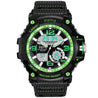 Digilog Techno Green Multi-Function Analog Digital Dual Time Watch For Men & Boys