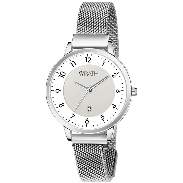 Wrath Rush of Elegance Silver-White Luxury Watch For Women & Girls.