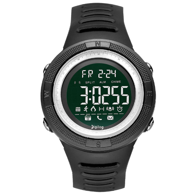 Digilog Wind Breaker Activewear Black & White Multi Function Watch For Men & Boys  (Day, Date, Alarm, Backlight, Stopwatch & more)