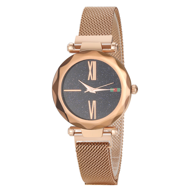 Gedi Haute Couture Light Brown Magnetic Strap Luxury Watch For Women & Girls