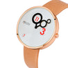 Modor Classy Brown Rose Gold Dial Analog Watch  - For Women