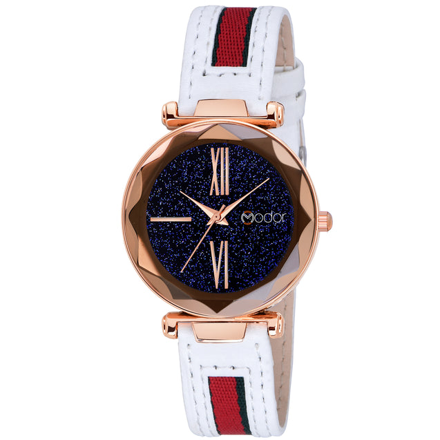 Modor White Fashionista's Analog Watch  - For Women