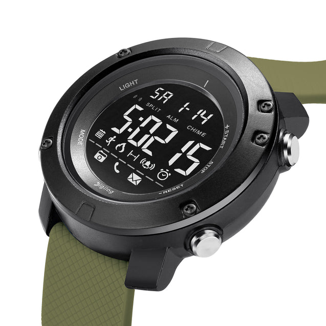 Digilog Future Military Green Activewear Classy Digital Multi Function Watch For Men & Boys (Day, Date, Alarm, Backlight, Stopwatch & more)