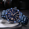 Wrath Devil's Blue Day & Date Luxury Men's Watch.