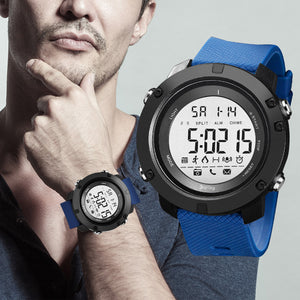 Digilog Future Bold Blue Activewear Classy Digital Multi Function Watch For Men & Boys (Day, Date, Alarm, Backlight, Stopwatch & more)