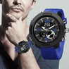 Digilog Wing Commander's Bold Blue Analog-Digital Dual Display Multi Function Watch For Men & Boys