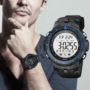 Digilog Sharp Sports Activewear Black & Blue Digital Multi Function Watch For Men & Boys (Day, Date, Alarm, Backlight, Stopwatch & more)