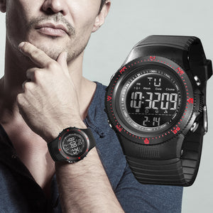 Digilog Hyper Sports Activewear Black & Red Digital Multi Function Watch For Men & Boys (Day, Date, Alarm, Backlight, Stopwatch & more)