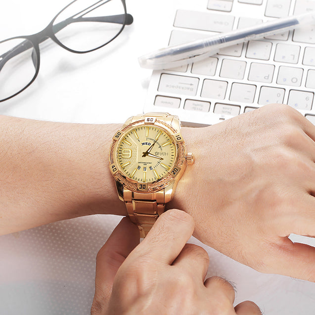 Wrath Royal Gold Day & Date Luxury Men's Watch.