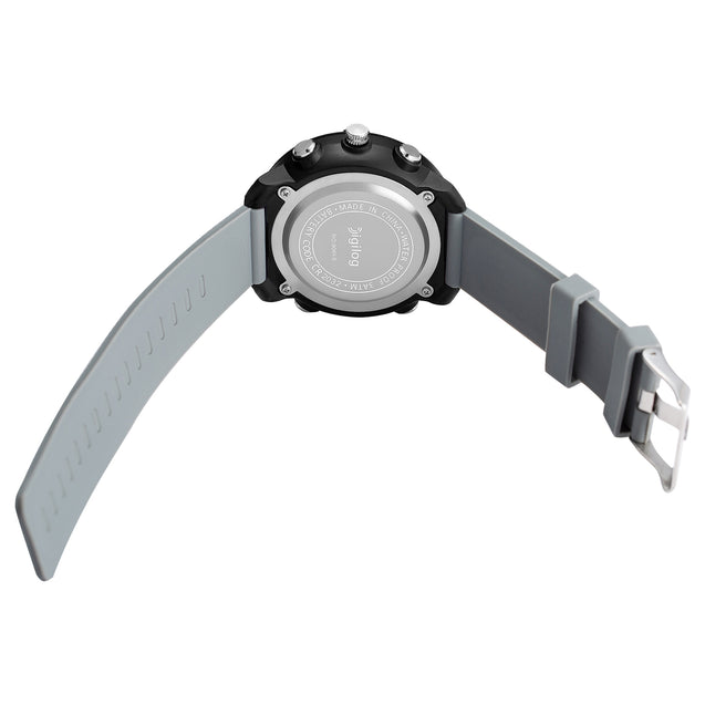 Digilog Classy Crosshairs Ash Grey Analog-Digital Dual Display Multi Function Watch For Men & Boys