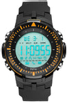 Digilog Sharp Sports Activewear Black & Orange Digital Multi Function Watch For Men & Boys (Day, Date, Alarm, Backlight, Stopwatch & more)