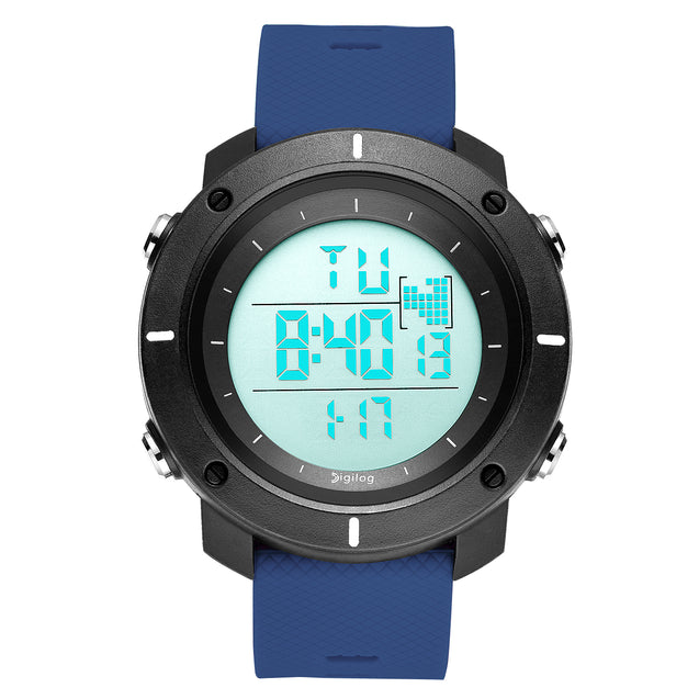 Digilog Force Bold Blue Activewear Classy Digital Multi Function Watch For Men & Boys