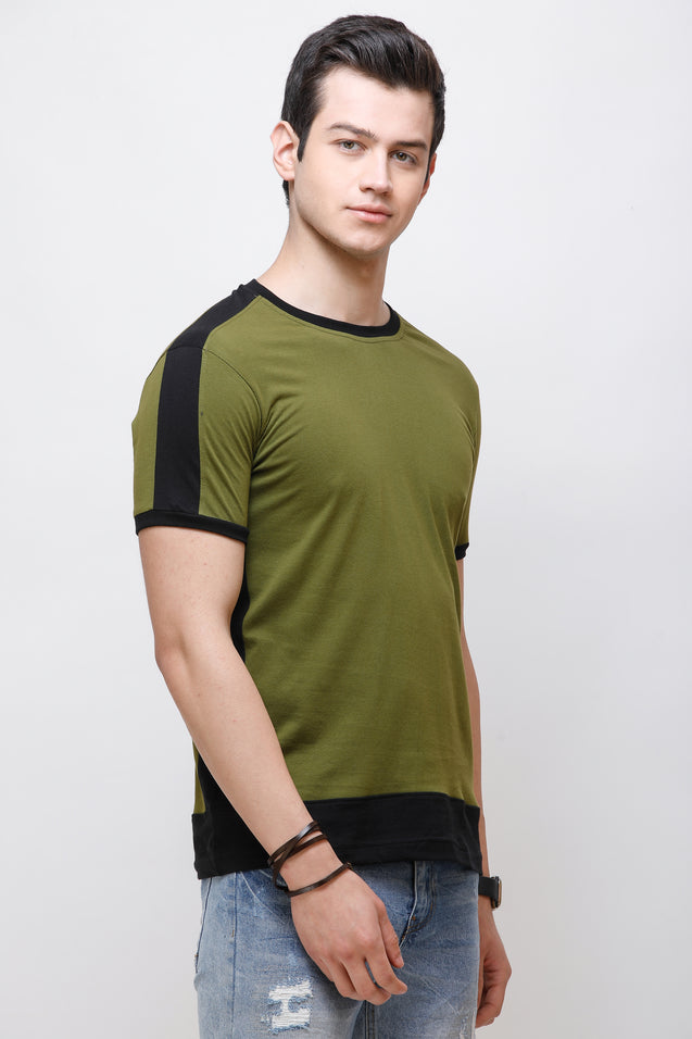 Wrath Effortless Casuals Green T-Shirt for Men & Boys