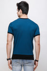 Wrath Effortless Casuals Teal Blue T-Shirt for Men & Boys