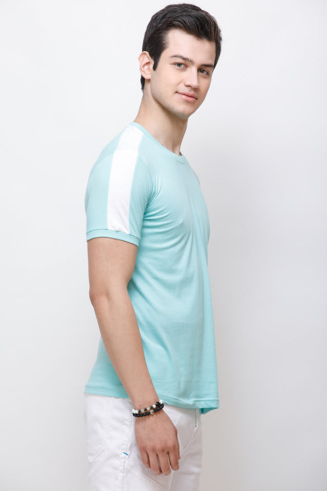 Wrath Classy Charm Turquoise T-Shirt For Men & Boys