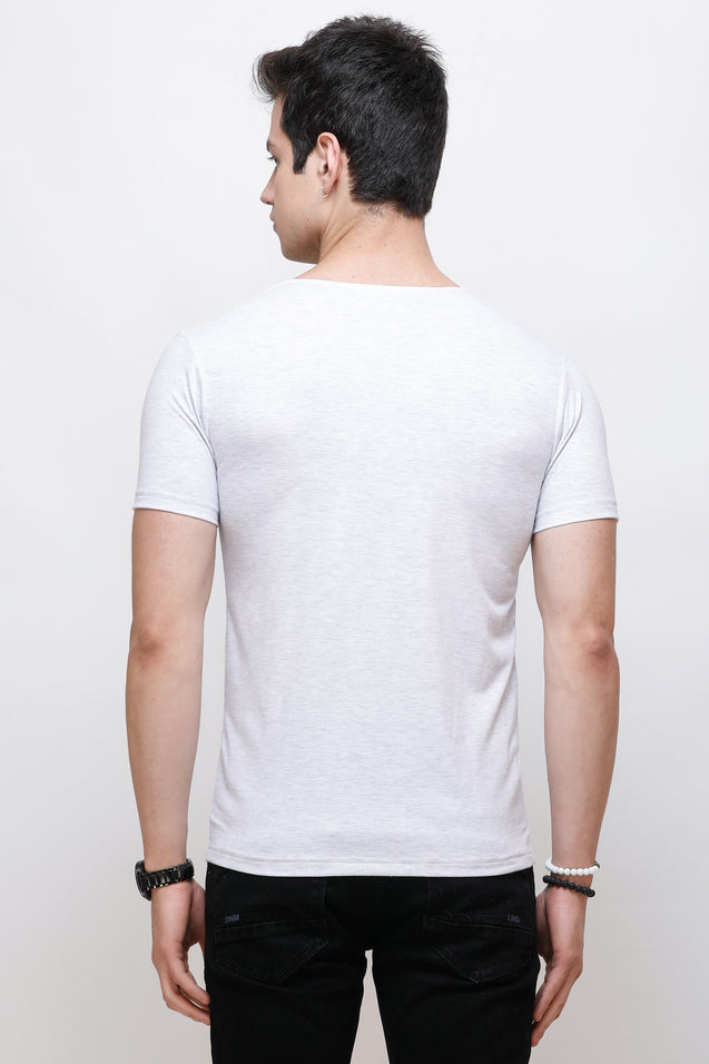 Wrath Buttoned Basics White T-Shirt for Men & Boys