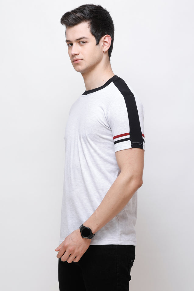 Wrath Stylish Armband White T-Shirt for Men & Boys