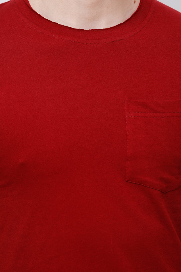Wrath Minimal Couture Maroon T-Shirt For Men & Boys