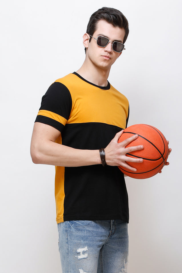 Wrath European Style Yellow T-Shirt For Men & Boys