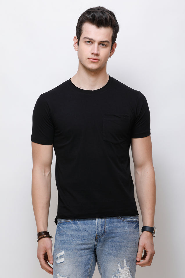 Wrath Minimal Couture Black T-Shirt For Men & Boys