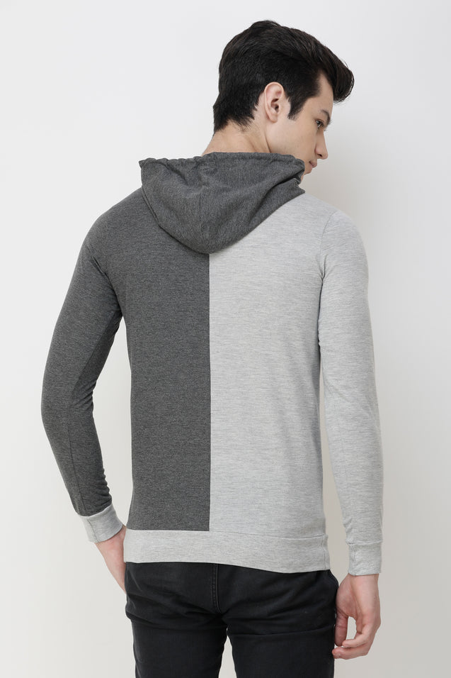 Wrath Eclipse Gray Dual Shade Hoodie For Men & Boys