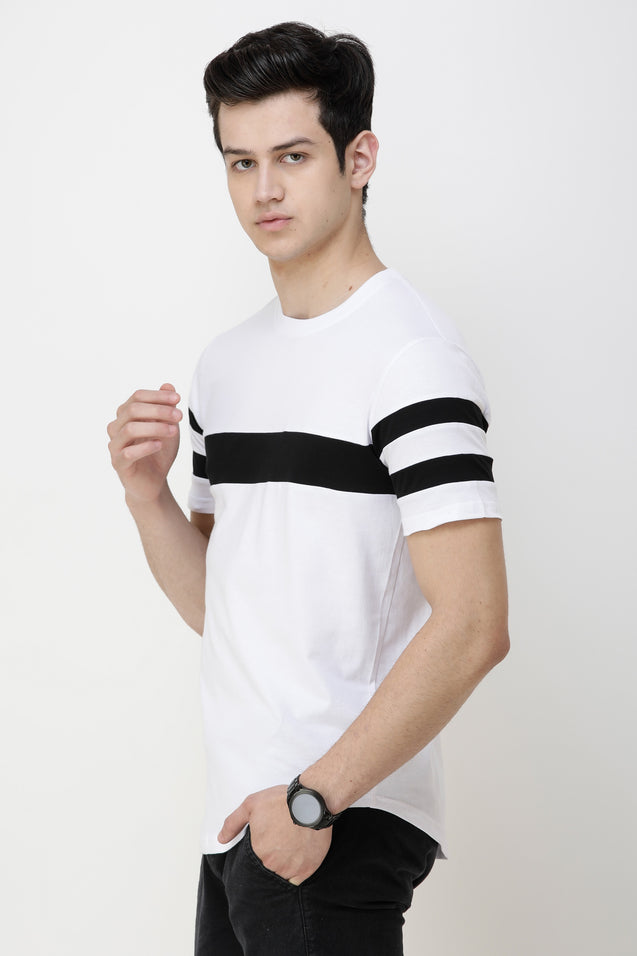 Wrath Solid Men Round Neck White T-Shirt