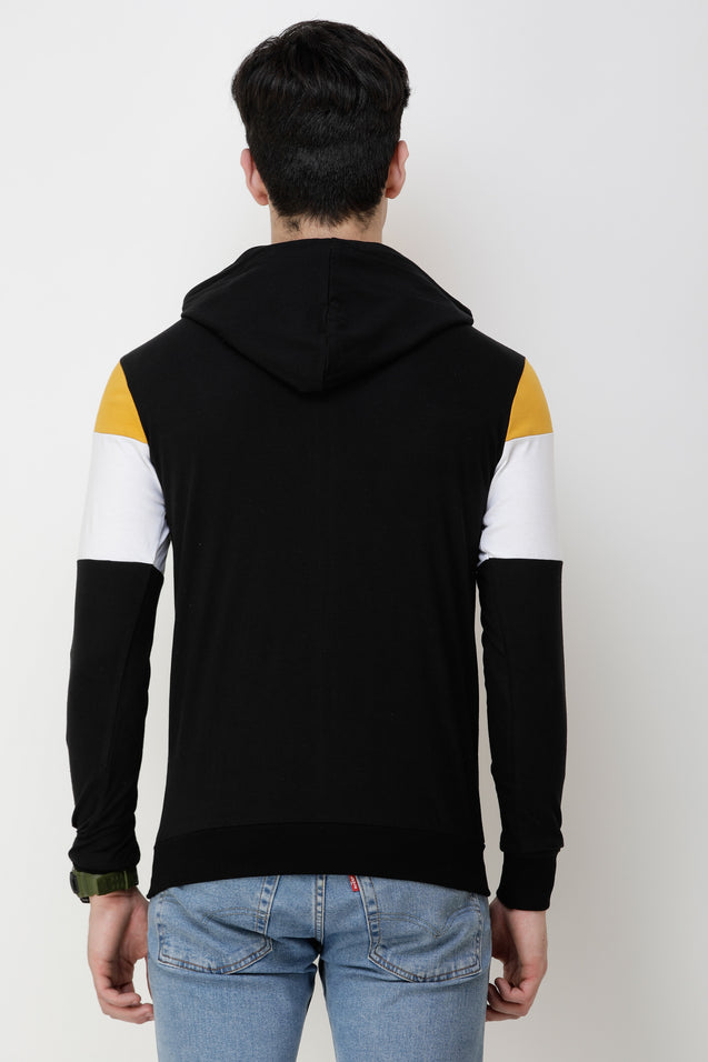 Wrath Captain Yellow Black Hoodie For Men & Boys