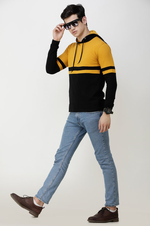 Wrath Handsome Yellow Black Hoodie For Men & Boys
