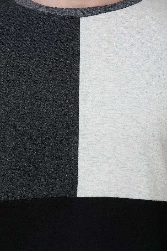 Wrath Gray Color Palette Blocks Full Sleeve T-Shirt For Men