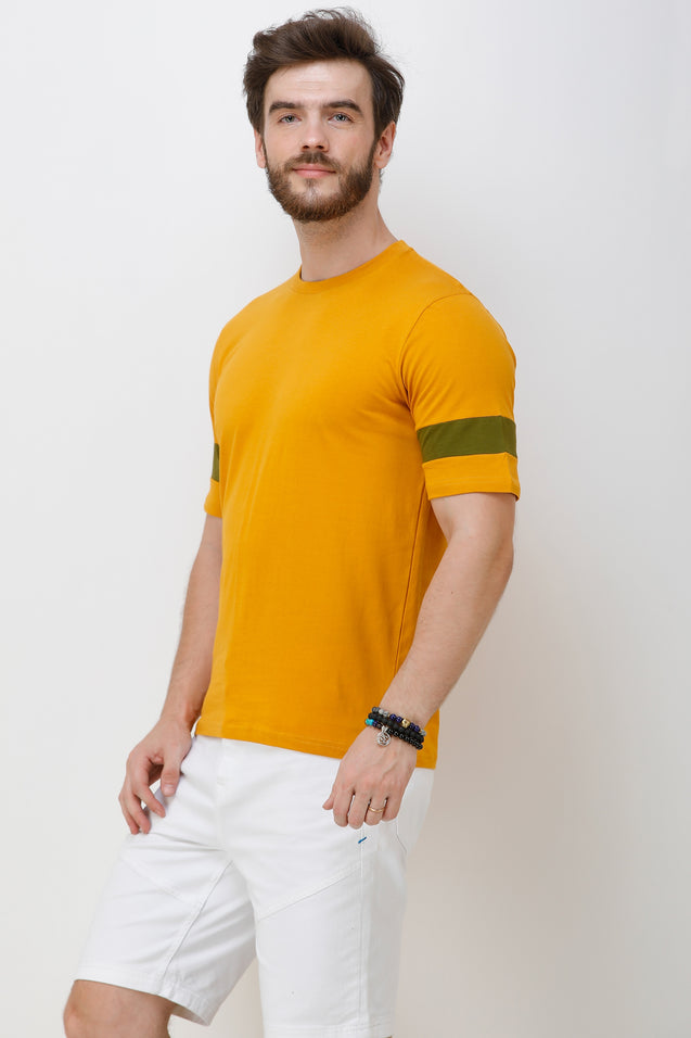 Wrath Chocolate Boy's Yellow Designer T-Shirt For Men
