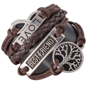 Addic Fabric Brown Charm Bracelet Watch For Men.