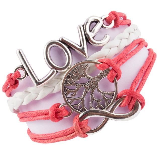 Addic Adorable Infinity Love Tree Cross Bracelet For Women.