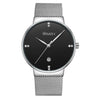 Wrath Suave Billionaire Silver Minimalist Luxury Watch For Men.