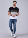 Wrath Prism Shades of Black Colour Blocked T-Shirt For Men