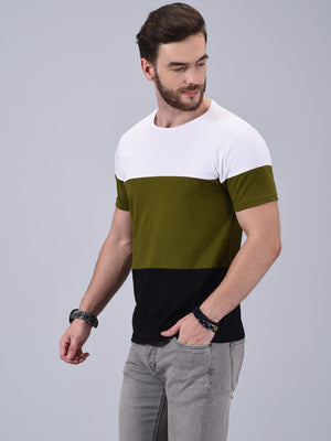 Wrath Effortless Charm Triple Color Blocked T-Shirt for Men