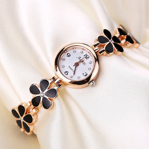 Addic Fragile Flowers Black-Is-The-New-Pink Girls & Women's Watch.