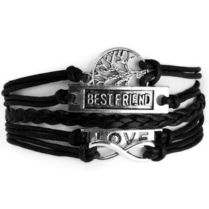 Addic Hot Multi-Styles Infinity Anchor Love Tree Cross Leather Charm Men's Bracelet.
