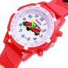 Kidzo Toon Cab Red Analog Kids Wrist Watch With 3D Strap.