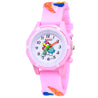 Kidzo Moldy Mushrooms Baby Pink Analog Kids Wrist Watch With 3D Strap.