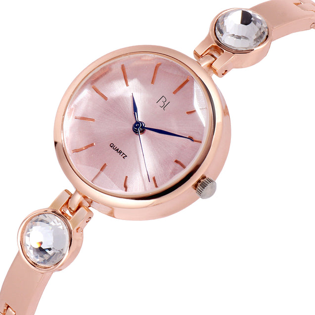 Addic BL Pinkish Hues Office Cum Casual Watch For Women & Girls.