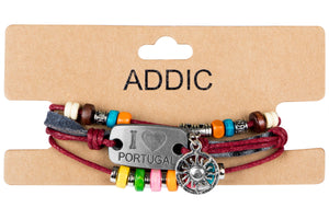 Addic Rasta Legend Red Leather Men's Bracelet.
