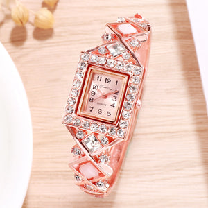 French Loops Nizam's Treasure Jewel Rose Gold Showered Ethnic Party Wear Bracelet Watch