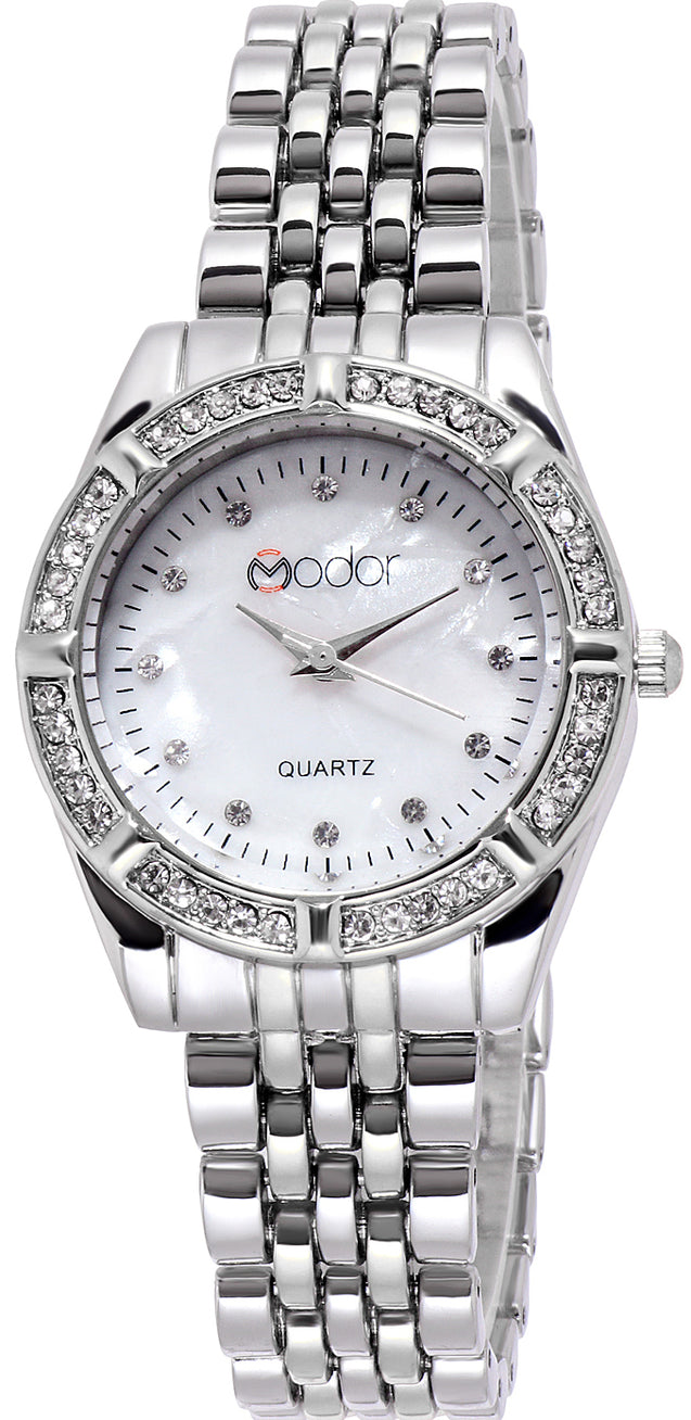 Modor Royal Elegance Silver Dial Formal / Casual / Party Wear Multi Purpose Wrist Watch For Women & Girls
